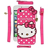 Qzey Cute Hello Kitty Back Cover For Apple Iphone 5/5S - Pink
