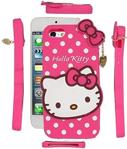 Qzey Nice Kitty Back Cover For Apple Iphone 5/5S - Pink