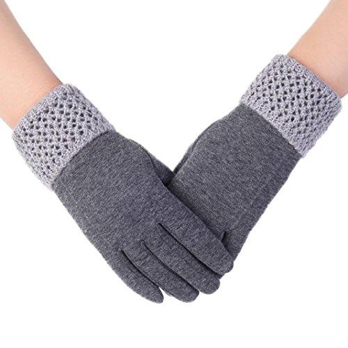 FEITONG Para mujer de la moda táctil Pantalla de invierno al aire libre del deporte guantes calientes