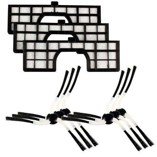 Original Markenware Menalux MRK02 Robotic-Filter-Seitenbürsten-Set für Samsung Navibot Robotersauger