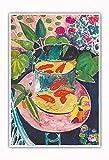 Pacifica Island Art Poisson Rouge - Peinture de Couleur de Henri Matisse c.1912 - Master Art Print 33 x 48 cm