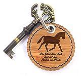 Mr. & Mrs. Panda Rundwelle Schlüsselanhänger Dressurpferd - Pferd, Reiterferien, Pony, Dressurpferd, Voltigieren, Bauernhof Schlüsselanhänger, Anhänger, Taschenanhänger, Glücksbringer, Schlüsselband