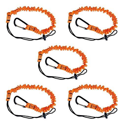 Runmind cordino di sicurezza per ponteggi con moschettone estremità ad anello regolabile ultra resistente materiali di alta qualità ideale per