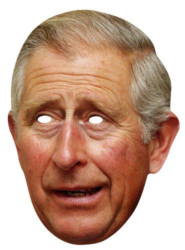 Kostüm Prinz Charles - Star Cutouts Kartonmaske Bedruckt mit Gesicht