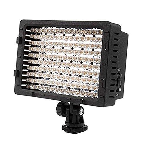 SUKILIU Bewegliches Studio-Videoleuchte LED 160 Dimmable Höchstleistungs-Platten-Digitalkamera, LED-Licht Für Canon, Nikon, Pentax, Panasonic, Sony, Digital-SLR, 600LM
