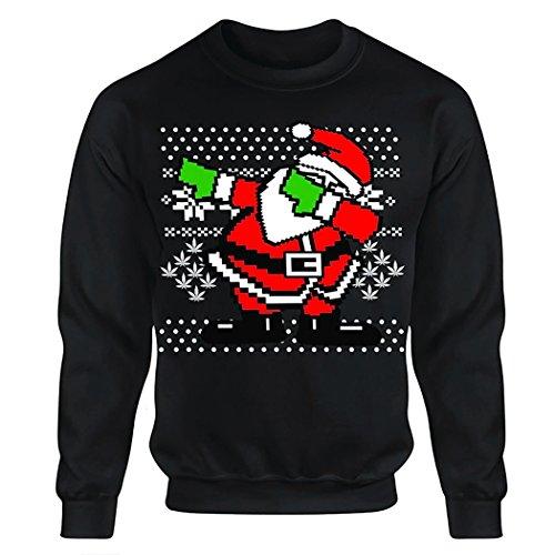 Männer Herren Erwachsene Weihnachtsmann-Druck Pullover Weihnachten Oversize Bluse Sweatshirt Größe S M L XL XXL XXXL