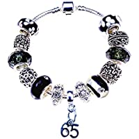 41ec7da9e 65th Birthday Bracelet, Silver Charm Bracelet, Silver, Crystal, with  Complementary Gift Box
