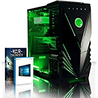 VIBOX Lynx 41 Gaming PC Computer with War Thunder Game Voucher, Windows 10 OS (4.2GHz Intel i7 Quad-Core Processor, Nvidia GeForce GTX 1060 Graphics Card, 16GB DDR4 2133MHz RAM, 3TB HDD)