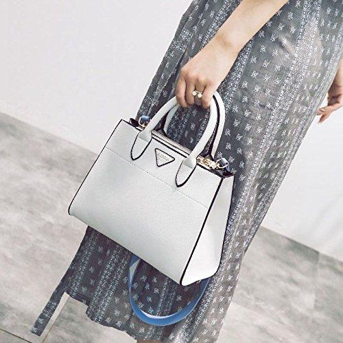 Upper-Tragbare schulter Xiekua Paket einfache Mode Handtaschen, schwarz White