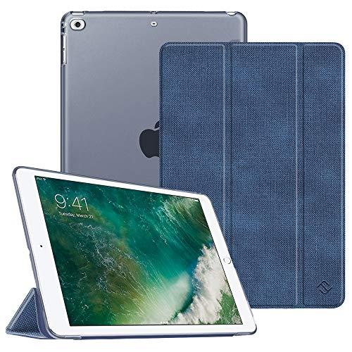 Fintie Hülle für iPad 9.7 Zoll 2018 2017 / iPad Air 2 (2014) / iPad Air (2013) - Ultradünn Schutzhülle mit transparenter Rückseite Abdeckung Cover mit Auto Schlaf/Wach Funktion, Jeansoptik Indigoblau - 4. Gb Ipad 64 Generation