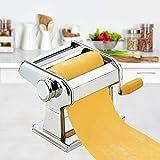 db Hochwertige Edelstahl Nudelmaschine manuell für 7 Nudelstärken Pastamaschine Nudel Maschine Pasta Maker (Silber)