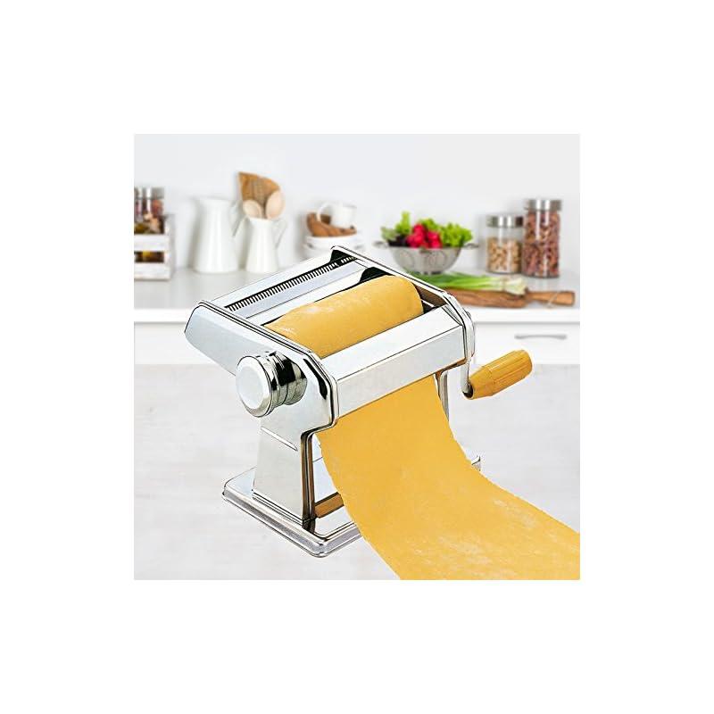 Frx Hochwertige Edelstahl Nudelmaschine 7 Nudelstrken Manuell Pastamaschine Nudel Maschine Pasta Maker