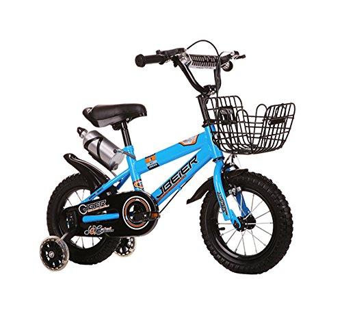 Kinderfahrräder Guo shop, Kinder 4-6-8-11 Jahre alt Jungen und Mädchen 12/14/16/18 Zoll Mountainbike (Farbe : Blau, größe : 12 Zoll)
