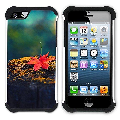 Graphic4You Herbst Leaves Bäume Postkarte Hart + Weiche Kratzfeste Hülle Case Schale Tasche Schutzhülle für Apple iPhone SE / 5 / 5S Design #7