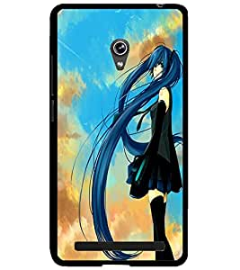 ColourCraft Girl Design Back Case Cover for ASUS ZENFONE 6 A600CG