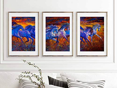 Wandbild mit Pferdemotiv - Bild Heimdekoration - Tier-Kunstdrucke für Schlafzimmer, Badezimmer, Küche, Wohn/Familienzimmer, Ranch, Bauernhof - 20,3 x 25,4 cm Poster (Ranch Bilder)