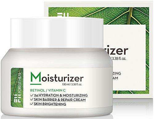 [Wald heilt] Anti-Aging-Retinol Creme für das Gesicht und trockene Haut, Vitamin C Facial Moisturizer, Anti-Falten-Trink für Tag oder Nacht 24-Stunden-Lifting, Aufhellen (100 ml / 3,38 fl.oz.)