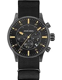 Jacques Lemans Herren-Armbanduhr XL Chronograph Quarz Nylon 1-1749C