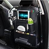 eunicom 5 Farbe Option PU Leder Autositz Rückseite Organizer automuko iPad und Tablet Halter passend für die meisten Fahrzeuge, Rückenlehne Pocket für Kinder, Kick Matte und Organizer