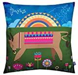 Air Castle- Home Decore- Polyester & Polyester Blend- Taurus Cushion Cover best price on Amazon @ Rs. 706