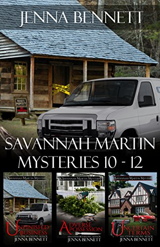 Savannah Martin Mysteries Box Set 10-12: Unfinished Business, Adverse Possession, Uncertain Terms