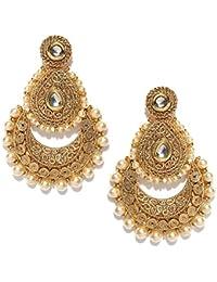 PANASH Gold-Plated Beaded Dangle & Drop Earrings For Women