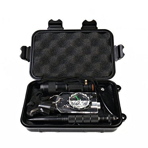 WLM 10 in 1 Selbsthilfe Außen Survival Kit Set Notfall Self Help Sport Camping Wandern Werkzeuge Box