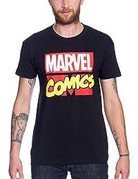 T-shirt Marvel Comics avec logo Elbenwald coton noir