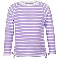 Snapper Rock Girl 's UPF 50Plus–Camiseta Rayas Lavanda, 13–14años, 162–170cm