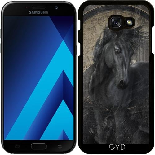 514B1USWZnL UK BEST BUY #1Case for Samsung Galaxy A7 2017 (SM A720)   Gothic Friesian Horse by Gatterwe price Reviews uk