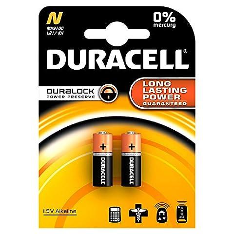 Duracell Lady Typ N, LR1, 4001, 4901, MX9100, 910A (9100) Alkali 1,5 Volt 2er-Blister (Lr1 Akku)