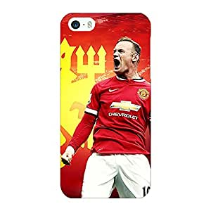 Jugaaduu Manchester United Rooney Back Cover Case For Apple iPhone 5