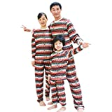 BOZEVON Pigiama della Famiglia di Natale - Famiglia Natale Holiday Stampa Unica Comodo Pigiama Top + Pantaloni Sleepwear,Rosso (per Mamma),Tag M
