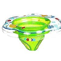 IBanana Baby Swimming Ring, Adjustable Inflatable Kids Toddler Seat Float Swim Ring (Seat Ring-Green)