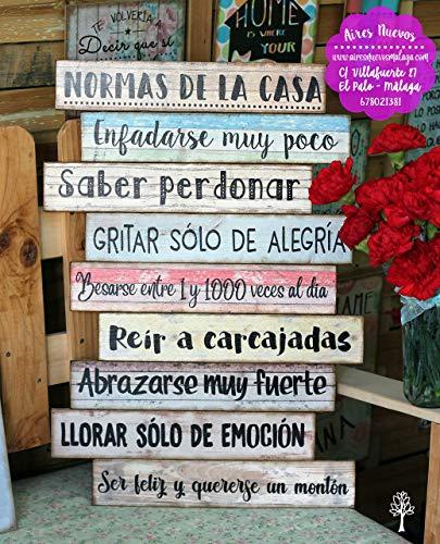 Cuadro madera frases mensajes positivos