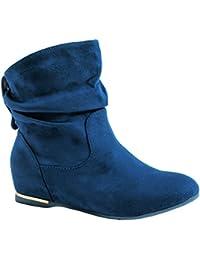 Elara Damen Schlupfstiefel | Bequeme Klassiche Stiefeletten | Flache Boots