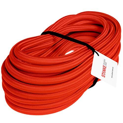 Seilwerk STANKE Gummiseil Expanderseil Rot 10 mm 10 Meter - Gummileine Spannseil Planenseil Gummischnur