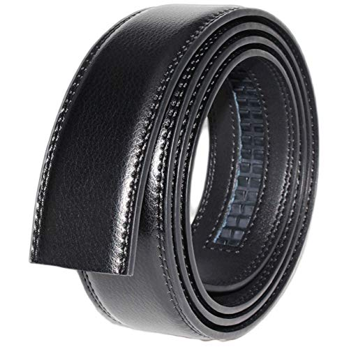 Cinturón De Hombre, Cuero Auténtico,cinturon Hombre Traje Cinturón Cinturones Cuero Cinturon Hombre Traje Cinturón Cinturones Cuero (1 Correa Negra Solo Sin Hebilla Metálica)