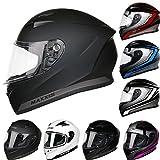 Best Crash Helmets - *2018 NEW STYLE* Leopard LEO-813 Full Face Motorbike Review