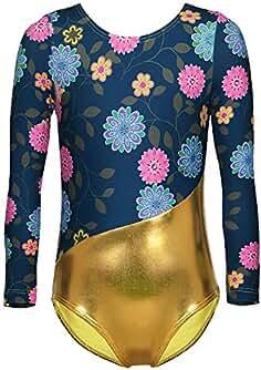 DAXIANG Enfant Fille Vêtements de Gymnastique Long Manches Dancewear sans  Manches Bodysuit Ballet Justaucorps pour Enfants a749553c316