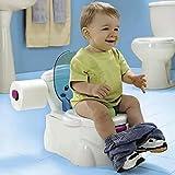 Baby Kleinkind Üben Aufs Töpfchen Zu Gehen Toilettenleiter Sitz Anti-Rutsch Badhocker Multifunktional Toilleten Sitz Mit Deinem Baby Groß Werden (Farbe : Weiß)