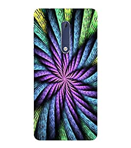 PrintVisa Designer Back Case Cover for Nokia 5 (Intertwining Lines Pattern)