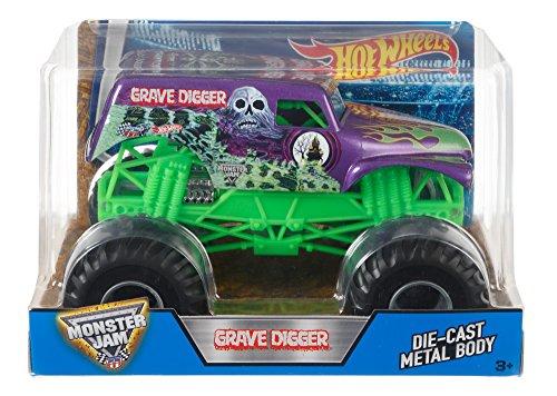 Hot Wheels Monster Jam Grave Digger Truck, Purple (Monster Truck Grave Digger)