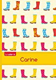 Le cahier de Carine - Blanc, 96p, A5 - Bottes de pluie