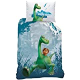 Disney The Good Dinosaur 043726 Set Copripiumino singolo e federa in cotone renforcé, 140 x 200 + 70 x 90 cm
