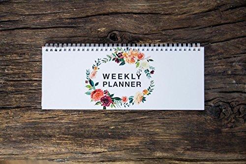 Wochenkalender - Weekly Planner in klassischem Offsetdruck - Kalender ohne Datum