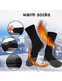 luoOnlineZ - 1 par de Calcetines de Aislamiento de Fibra aluminizada para Mantener los pies Calientes, Large