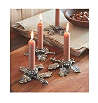 Mud Pie Holiday Collection Acorn Candle Holder