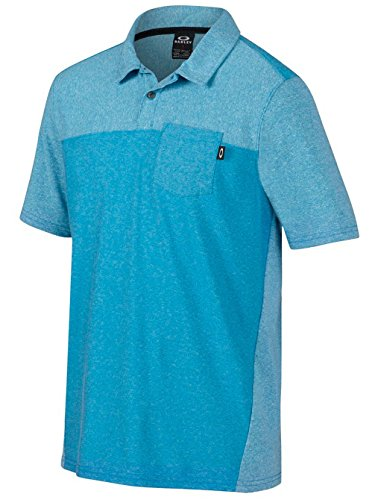 Herren Polo Shirt Oakley Foundation Polo pacific blue light heathe