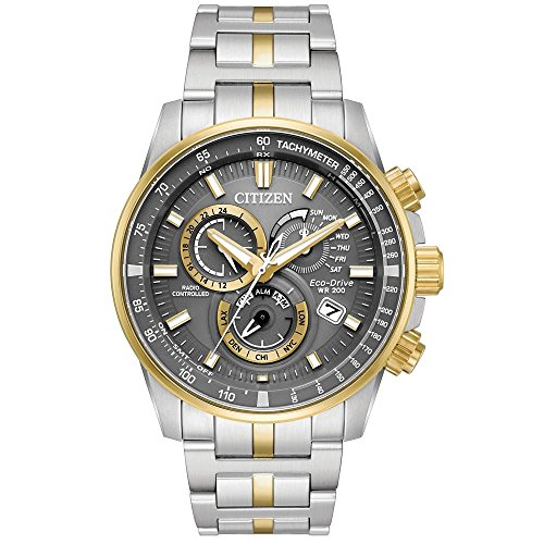 Citizen Homme 43mm Bracelet Acier Inoxydable Saphire Quartz Montre AT4124-51H